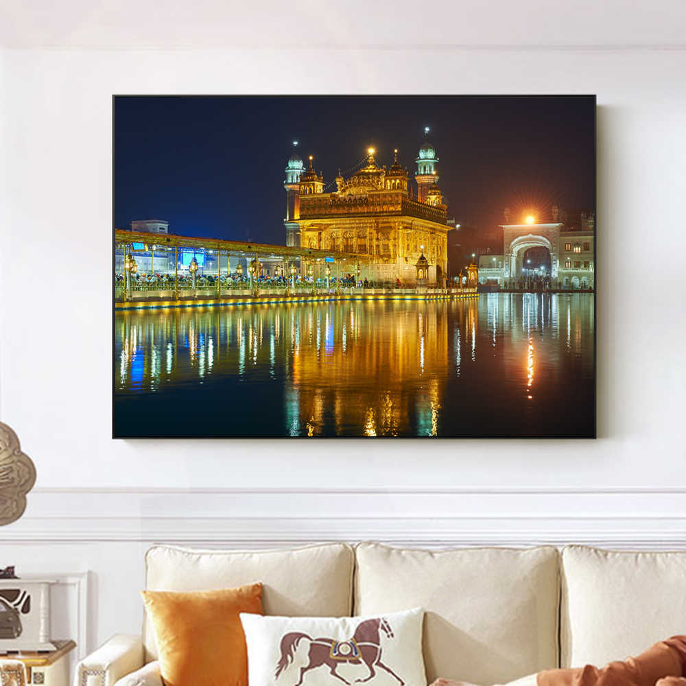 Amritsar - Golden Temple Wall Pictures For Living Room Wall Art Canvas Prints Religion Canvas Paintings Home Decoration Cuadros