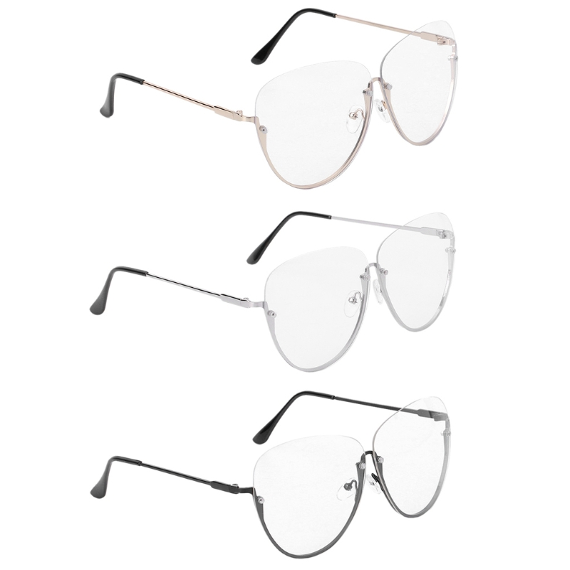 2018 Heiße Neue 1 Stück Männer Frauen Optische Gläser Mode Unisex Halbe Metall Rahmen Marke Designer Klar Brille Brille Hohe Qualität Weniger Teuer