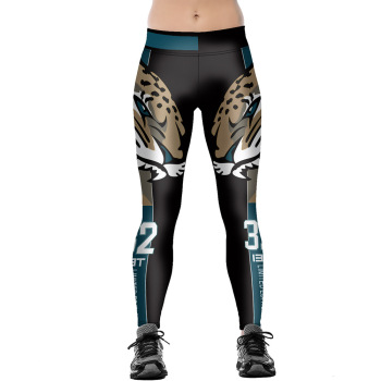 Unisex Football Team Jaguars 32 Print Tight Pants Workout Gym Training Running Yoga Sport Fitness Exercise Leggings Dropshipping 1