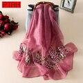 PTAH Mulheres Inverno Acessórios de Lã de Seda Pashmina Xale Cachecol Oversize Femme Marca de luxo Lenços Hijab Tippet Silenciador 4PT505