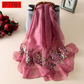 PTAH Winter Women Accessories Wool Silk Shawl Pashmina Oversize Scarf Femme luxury Brand Hijab Scarves Tippet Muffler 4PT505