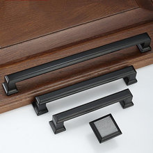 цены American Door Pulls Dresser Handles Drawer Pulls Handles Knobs Black Modern Decorative Furniture Cupboard Handles Hardware