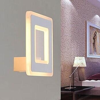 led Wall Sconce,Simple Modern White Artistic LED Wall Lamp Light For Bedroom Home Lighting,Bulb Included smart bulb e27 7w led bulb energy saving lamp color changeable smart bulb led lighting for iphone android home bedroom lighitng