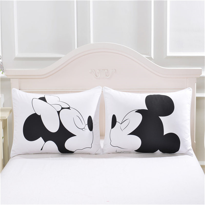 Personalized Mickey Minnie Valentine Wedding Day Pillow Cases