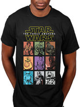 Star Wars The Force Awakens Character Panels T-Shirt Vader New  Free shipping  Harajuku Tops Fashion Classic Unique Cotton 5pcs movie the force awakens first order stormtrooper officer ee exclusive free shipping