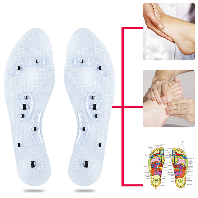Soumit Magnetic Massage Insoles Foot Acupressure Shoe Pads Therapy Slimming Insoles for Weight Loss Transparent Dropshipping Pad 4