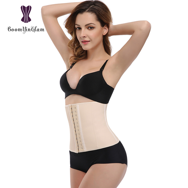 347963e819 Free shipping high quality 100% cotton and latex material waist trimmer  belt 9 steel boned corset workout waist trainer 934