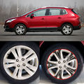 Car-Styling 17 Inches Carbon Fiber Wing Wheels Mask Decal Sticker Trim For Peugeot 3008