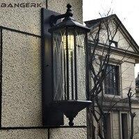 Retro Outdoor LED Wall Light IP65 Waterproof Rust Porch Lights Wall Sconce lamp Garden Balcony Aisle Glass Aluminum Lighting