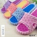 Não - Sip massagem chinelos chinelos de banho casal amantes início sapatos temporadas fundo macio insípido não escorregar chinelos de banho