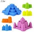 New Plastic 6 Tipos de Ao Ar Livre Minúsculo Colorido Castelo Modelo De Areia Da Praia Conjunto de Ferramentas de Brinquedo para Crianças Do Bebê