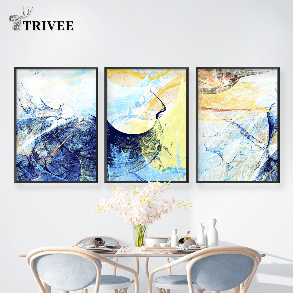 Home Decoration Print Canvas Abstract Modern Oil Painting Art Waterproof Posters Picture For Kids Room