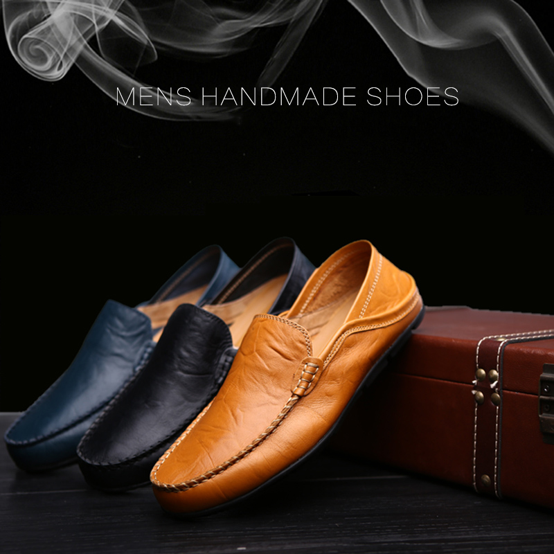 CIMIM Mens Big Size Loafers Casual Shoes Men High Quality Cowhide Flats Formal Shoes Men's Fashion Soft Breathable Driving Shoes high quality canvas men casual shoes breathable fashion footwear male loafers shoes black mens shoes sales flats walking shoes