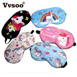 8040be97c Vvsoo Cute Unicorn Sleeping Eye Mask Cartoon Blindfold Eye Soft Cover For  Girl Kid Teen Traveling