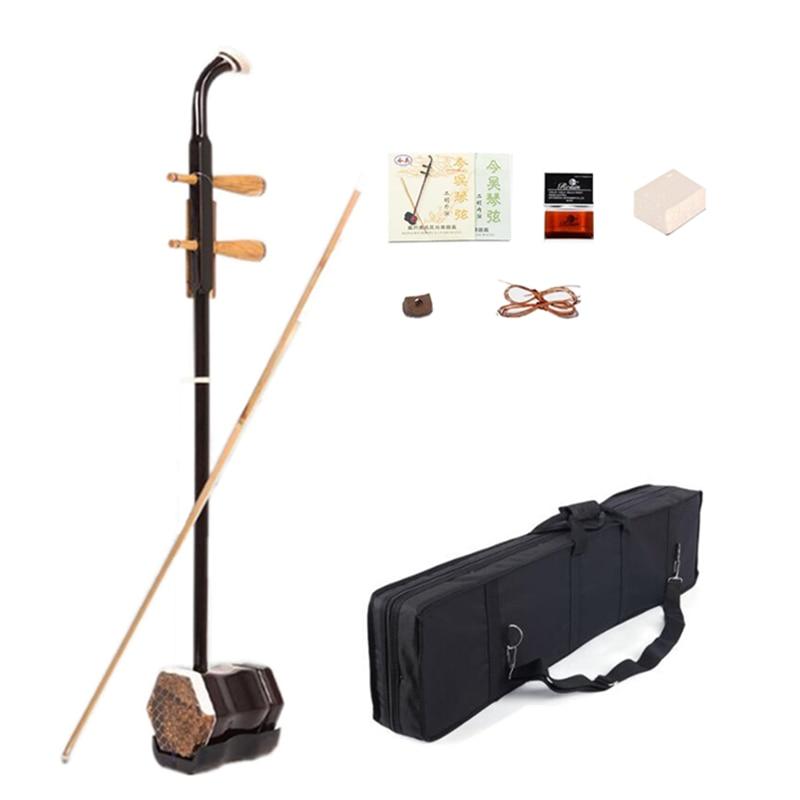 Vente chaude Erhu 01A1 Chinois deux Cordes Violon Instruments Urheen et Accessoires avec Colophane de rechange cordes Bow Livre et Cas
