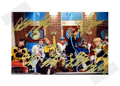 signed BTS autographed group photo LOVE YOURSELF  4*6 inches  freeshipping 102017