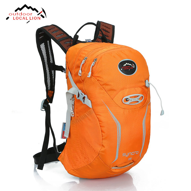 Outdoor Local Lion Mountaineering Sports Bag Unisex Hiking Camping Riding Bike High Capacity Polyester Waterproof Backpack