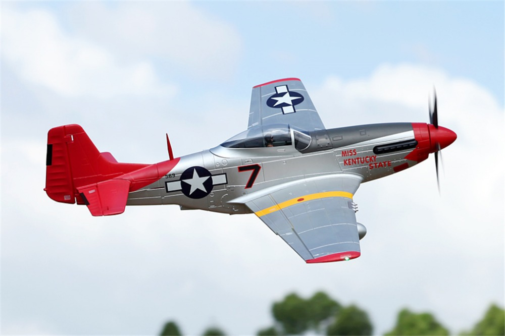 Fms Rc Airplane 1700mm 1 7m P51 P 51 D Mustang Red Tail