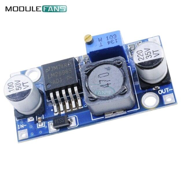 2PCS NEW DC-DC adjustable power step-down module Blue LM2596 Buck Converter Module 3.2V-40V To 1.25V-35V Voltage Regulator