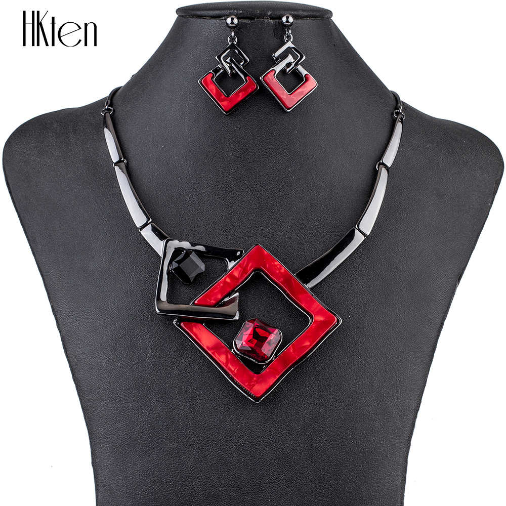 MS1504791 Fashion Jewelry Sets High Quality Necklace Sets For Women Jewelry Multicolored Crystal Resin Unique Design Party Gift