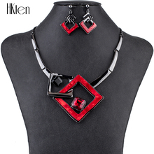 hot deal buy ms1504791 fashion jewelry sets high quality necklace sets for women jewelry multicolored crystal resin unique design party gift