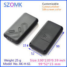 Szomk DIY новый корпус электроники пластиковый корпус (4 шт.) 99*52*15 мм ручной электрический блок управления, пластиковые датчик прибора
