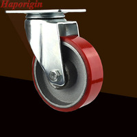 4 Swivel Wheels Caster Industrial Castor Univeral Wheel Silence PU 360 Degree Rolling Heavy Casters Cast