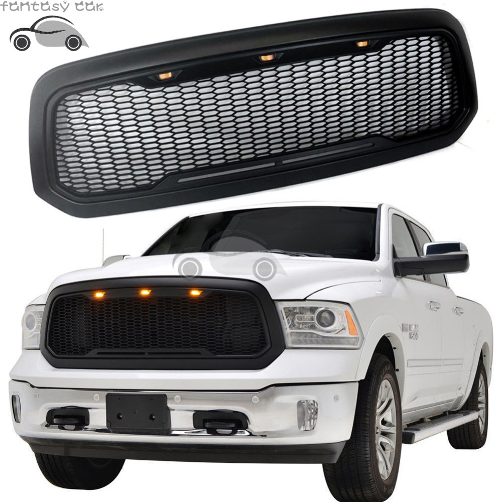 Raptor Style Replacement Front Mesh Grille With Led Light For Dodge Ram 1500 2017 2016 2018