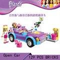 DIY Образовательные Игрушки для детей КИТАЙ бренд L3183 девушка открытый автомобиль Блоки самоконтрящаяся кирпичи, Совместимые с Лего друзья