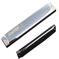 Easttop 24 Holes Natural Minor Harmonica Tremolo Armonica Key of C Mouth Ogan Professional Musical Instruments 24 holes harps