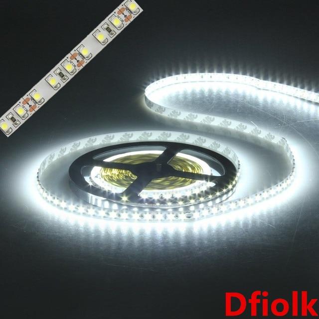 led strip light 3528 600led 5m waterproof IP65 DC 12V 3000K 6500K 8000K white warmwhite coldwhite red green blue led tape lamp 12w 6500k 1100lm 150 smd 3528 led white light flexible lamp strip dc 12v 5m