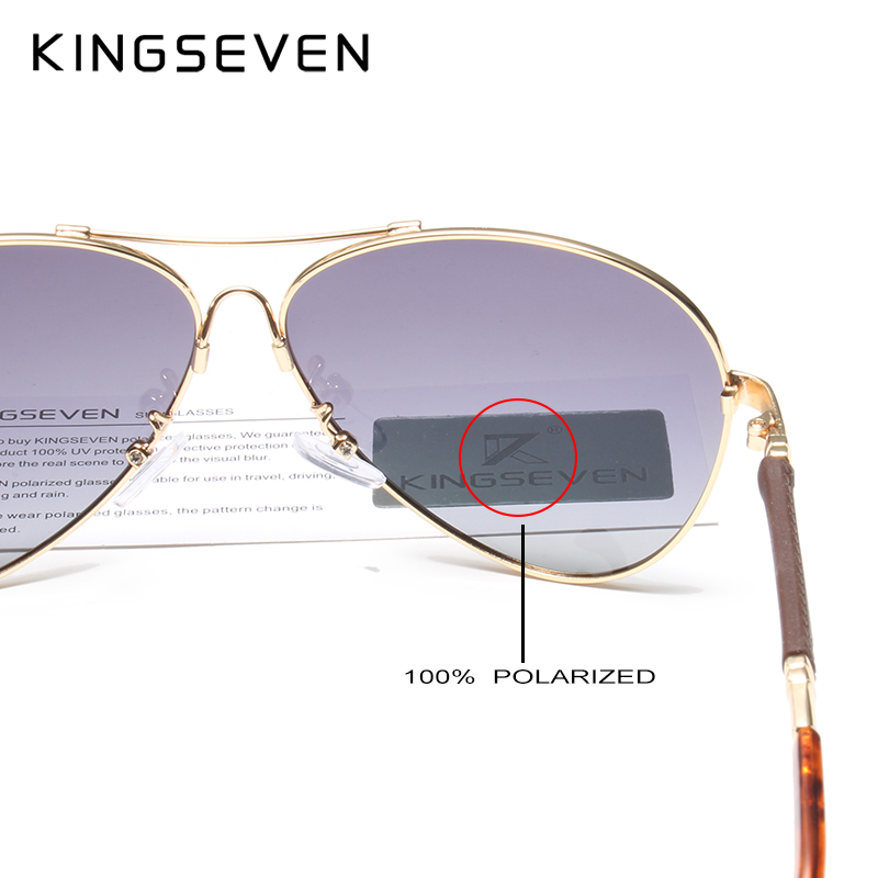 Image 5 - KINGSEVEN High Quality Pilot Sunglasses Men Polarized UV400 Sun glasses Goggle Oculos De Sol Accessories Driving Eyewear-in Men's Sunglasses from Apparel Accessories