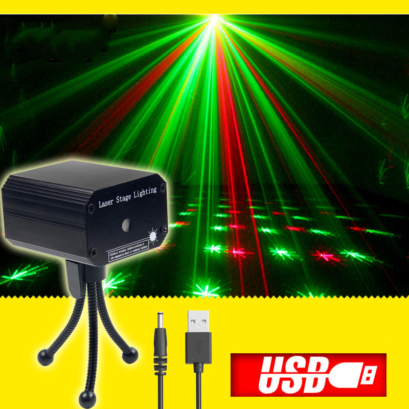 Home Disco Lights: Mini Usb Disco Light Sound Laser Projector For Home Party