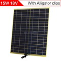ELEGEEK 15 W 18 V Célula Solar con Salida DC cocodrilo Clip de 322*322mm panel Solar para el Sistema Solar Del Hogar y prueba