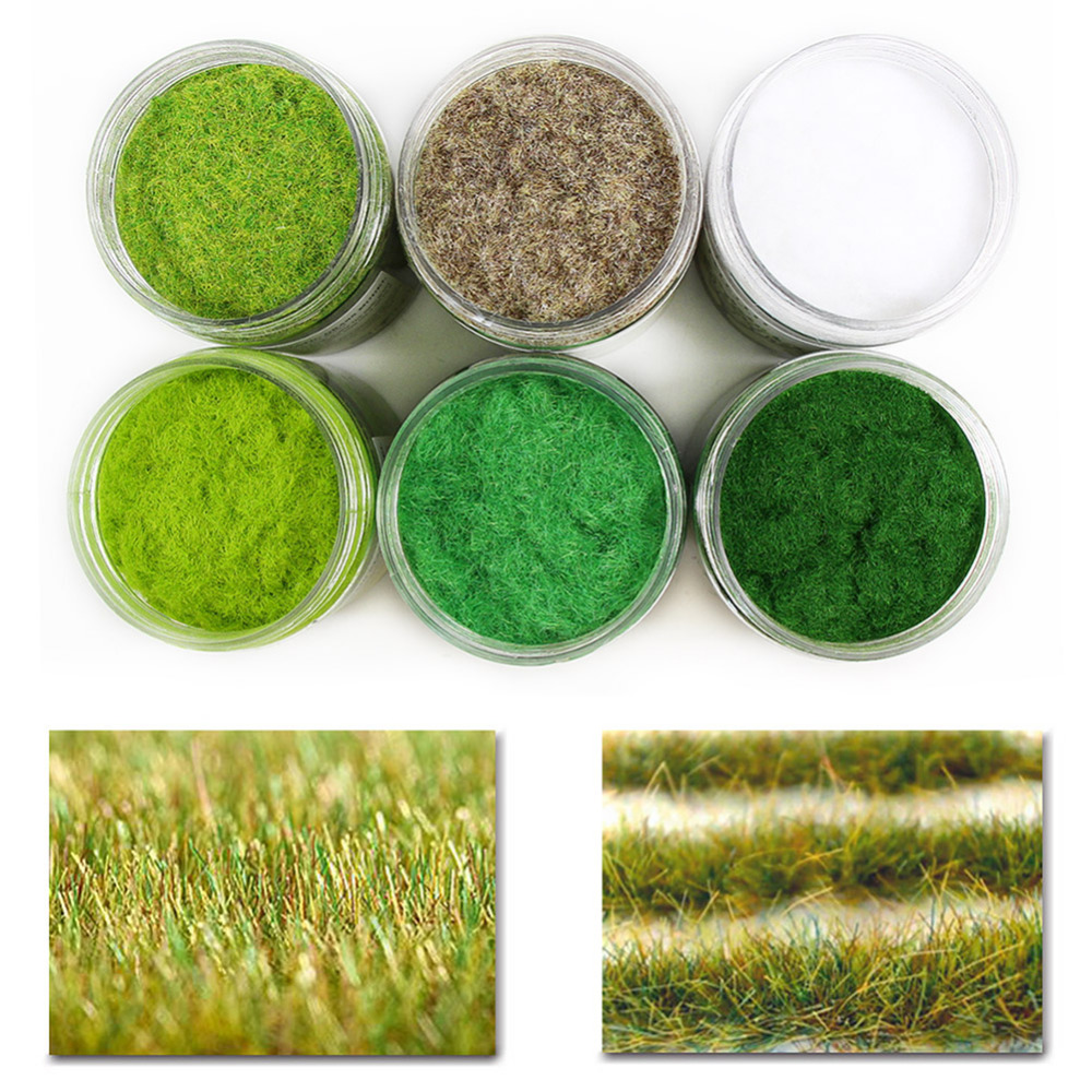 Image 4 - 210G 3mm Electrostatic Grass Static Grass Powder Flock Turf Flock Lawn Nylon Mixed 6 Colors Model CFA5Model Building Kits   -