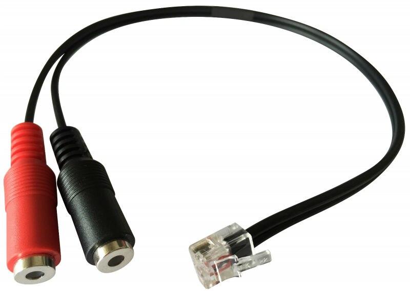 2 PCS Free Shipping Dual 3 5mm Jack to RJ9/Rj10/RJ22 Plug