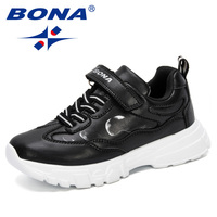 BONA 2019 Kids Sneakers Boys Shoes Hiking Children Shoes Anti Slippery Synthetic Leather Chaussure Enfant Running Shoes Trendy