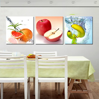 3 Panel Art Decor Wall Pictures Fresh Fruit Oil Painting Printed Canvas For Kitchen Dinning Room