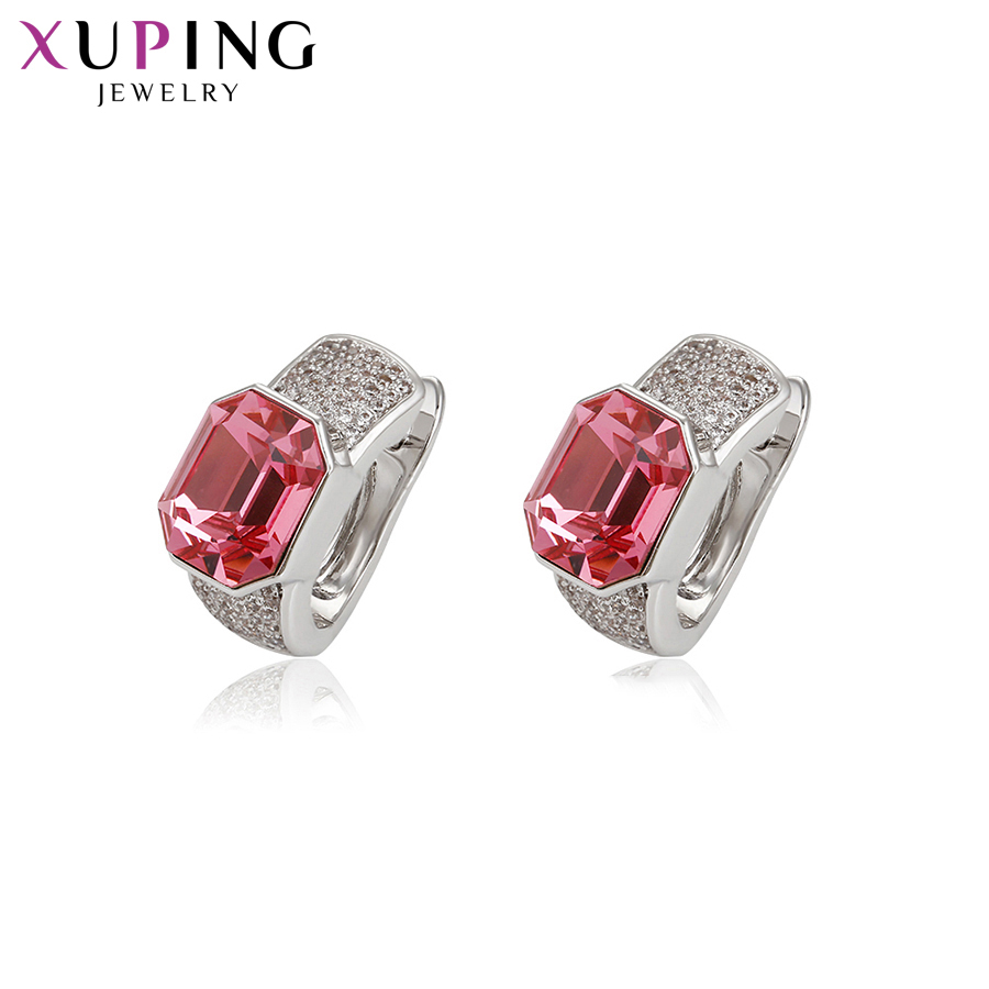 Xuping Fashion Jewelry Earrings Classical Crystals from Swarovski Exquisite Round Shaped Thanksgiving Gifts S141 7 94829