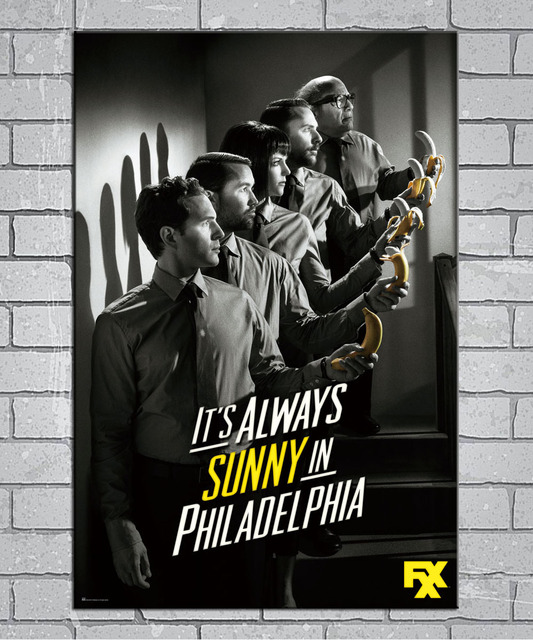 It S Always Sunny In Philadelphia Season 9 Light Canvas Custom Poster 24x36 27x40 Inch Home Decor