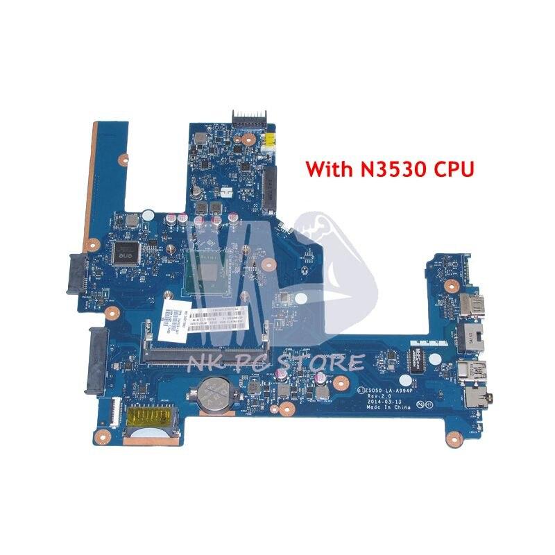 NOKOTION For HP Compaq 15 15-R 15T-R 15-S Laptop Motherboard 764103-501 764103-001ZSO50 LA-A994P SR1W2 N3530 CPU DDR3 nokotion brand new cn 0y3pxh 0y3pxh for inspiron 15 3531 laptop motherboard zbw00 la b481p sr1w2 n3530 cpu onboard ddr3