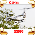 Presente de natal de Transporte Osprey Aircraft 4.5 CH 2.4G RC Helicóptero Brinquedos de Controle Remoto Do Motor Duplo Militar Duplo Giroscópios Brinquedo