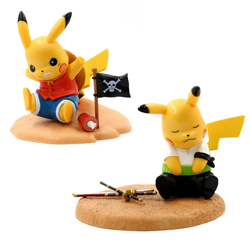 Action & Toy Figures One Piece Monkey D Luffy Action Figure 1/9 Scale Painted Figure Pikachu Cos Roronoa Zoro Pvc Figure Toys Brinquedos Anime
