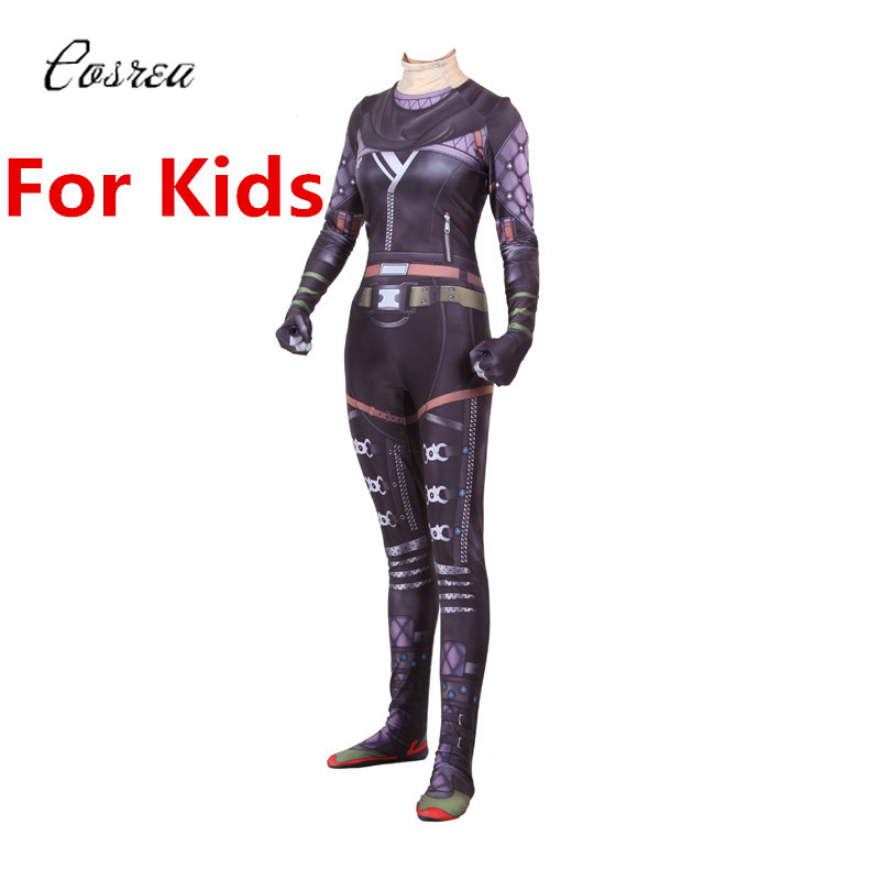 Game Apex Legends Zipper Bodysuits One-piece Zentai Cosplay Onesie Kids Catsuit Spandex Suit Halloween Costume for Kids