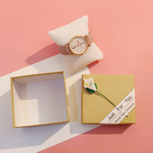 Watch box giveaway gift kraft paper give a flower bracelet packaging