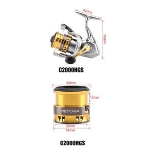 Image 5 - מקורי Shimano סדונה FI C2000HGS C2000S 2500S רדוד Spool ספינינג דיג סליל 3 + 1BB G משלוח גוף saltewater דיג סליל