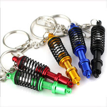Car accessoriesCar Auto Tuning Parts Key Chain Shock Absorber Keychain Keyring Spring Shock Absorber 88 XR657(China)