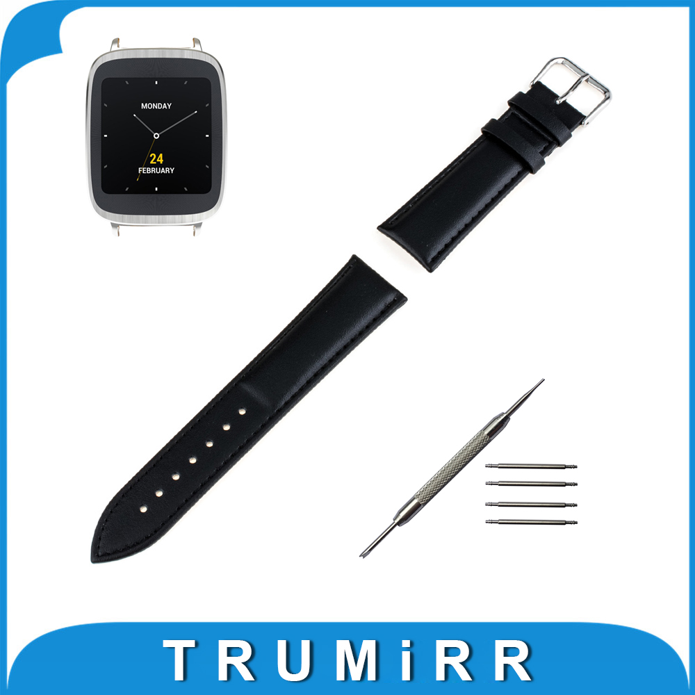 18mm Genuine Leather Watchband for Asus Zenwatch 2 Women's WI502Q Smart Watch Band Wrist Strap Plain Grain Belt Bracelet + Tool