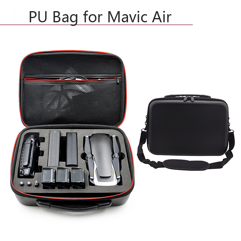 Drone Carrying Case PU Waterproof Dust-proof Handbag Storage Bag Protective Box For DJI Mavic Air Battery Controller Accessories