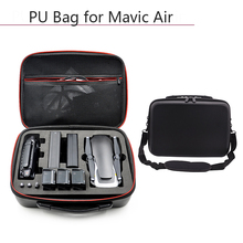 Drone Carrying Case PU Waterproof Dust proof Handbag Storage Bag Protective Box for DJI Mavic Air Battery Controller Accessories